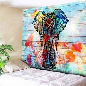 Wood Grain Wall Hanging Elephant Tapestry