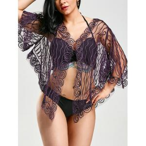 Rope Embellished Sheer Beach Lace Cover Up