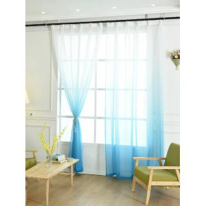 Window Screen Ombre Decorative Sheer Tulle Curtain -