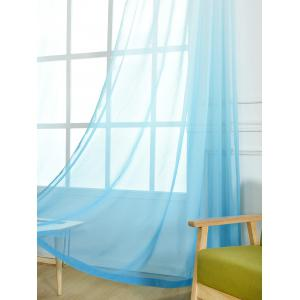 Window Screen Ombre Decorative Sheer Tulle Curtain - BLUE W42*L95INCH