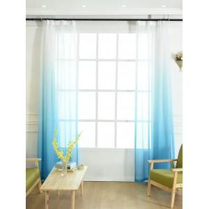 Window Screen Ombre Decorative Sheer Tulle Curtain - BLUE W54*L108INCH
