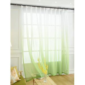 Window Screen Ombre Decorative Sheer Tulle Curtain - GREEN W42*L84INCH