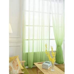 Window Screen Ombre Decorative Sheer Tulle Curtain - GREEN W54*L84INCH