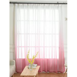 Window Screen Ombre Decorative Sheer Tulle Curtain - Pink - W54*l108inch