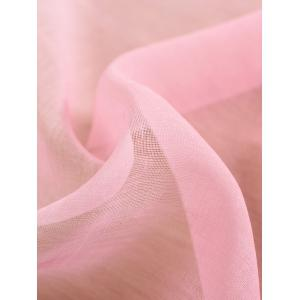 Window Screen Ombre Decorative Sheer Tulle Curtain - PINK W54*L108INCH