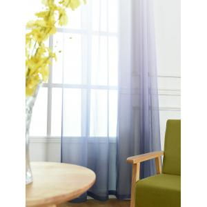 Window Screen Ombre Decorative Sheer Tulle Curtain - BLUE GRAY W42*L84INCH