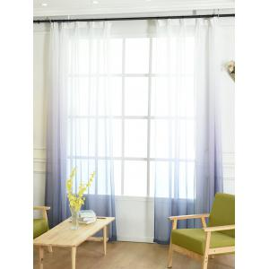 Window Screen Ombre Decorative Sheer Tulle Curtain - BLUE GRAY W54*L108INCH