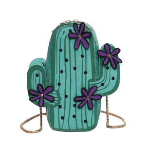 Novelty Cactus Shaped Crossbody Bag -