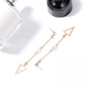 Triangle Chain Drop Earrings