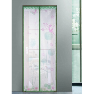Mesh Breathable Curtain Anti Insects Magnetic Door Screen - GREEN 100*210CM