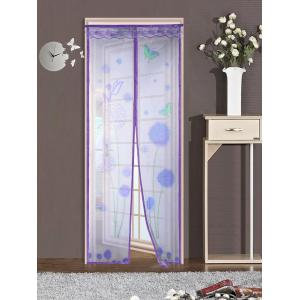 Insect Stopping Net Dandelion Door Screen Magnetic Curtain - Purple - 100*210cm