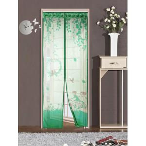 Magnetic Tulle Mesh Anti Mosquito Curtain Door Screen - Green - 100*210cm