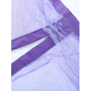 Self-Closed Mesh Anti Insects Magnetic Door Curtain - PURPLE 100*210CM