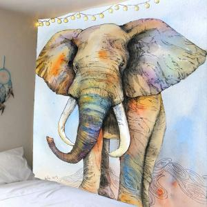 Elephant Print Wall Hanging Tapestry for Living Room - Colorful - W59 Inch * L79 Inch