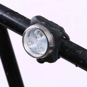 Outdoor Sport LED Clip On USB Rechargeable Bicycle Light - BLACK