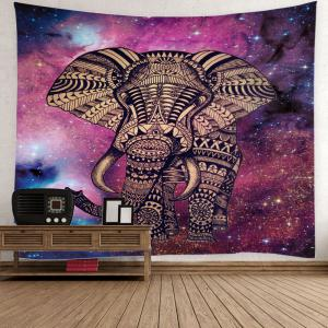 Tribe Elephant Night Sky Printed Wall Tapestry