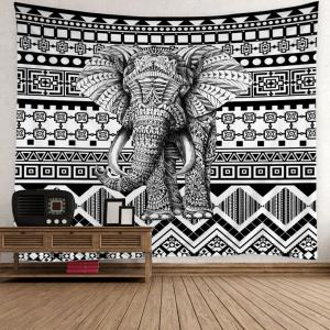 Home Decor Elephant Geometric Wall Tapestry