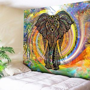 Rainbow Whirlwind Wall Hanging Elephant Tapestry