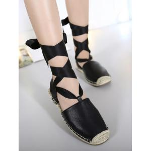 Espadrilles Tie Up Flat Heel Sandals -