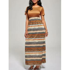 Floor Length A Line Boho Dress