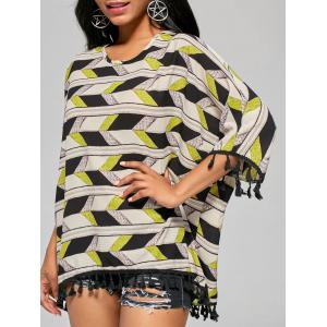 Batwing Sleeve Oversized Top