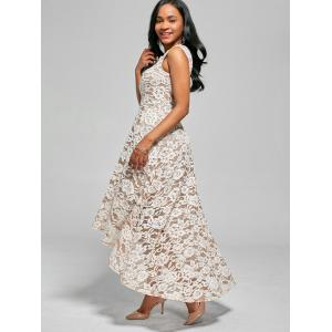 Floral High Low Maxi Cocktail Robe patineuse -