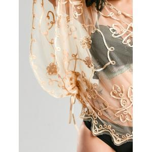 Retro Wave Cut Lace Beach Cover Up - Abricot TAILLE MOYENNE