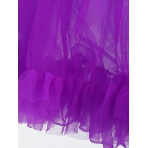 Light Up Ruffles Tutu Voile Cosplay Jupe - Violet Clair TAILLE MOYENNE