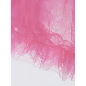 Light Up Ruffles Tutu Voile Cosplay Jupe - Rose Clair TAILLE MOYENNE