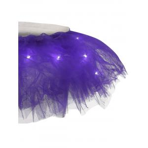 Tier Mesh Light Up Tutu Cosplay Jupe - Pourpre TAILLE MOYENNE