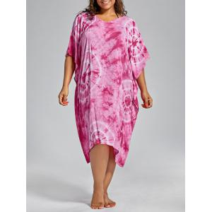 Plus Size Cover Up Dress with Batwing Sleeve -