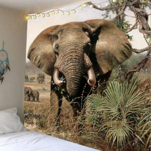 Elephant in Wild Wall Hanging Tapestry