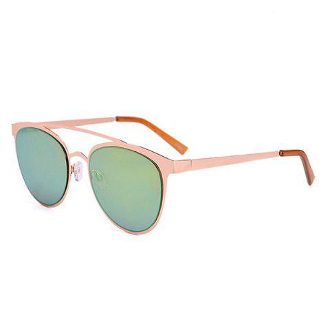 Hot Anti UV Reflective Oversized Sunglasses with Box GREEN