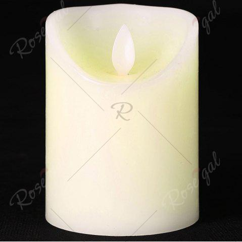 Buy Electronic Swing Pillar Shape Large Candle Night Light - H10CM WHITE Mobile