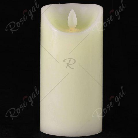 Latest Electronic Swing Pillar Shape Large Candle Night Light - H12.5CM WHITE Mobile