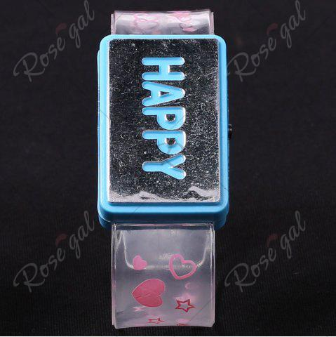 Store Flash Letter Party Decorative Watch Shaped Light - HAPPY BLUE Mobile