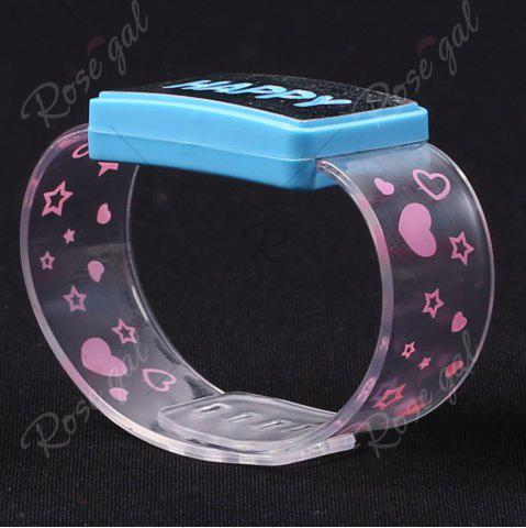 Cheap Flash Letter Party Decorative Watch Shaped Light - HAPPY BLUE Mobile
