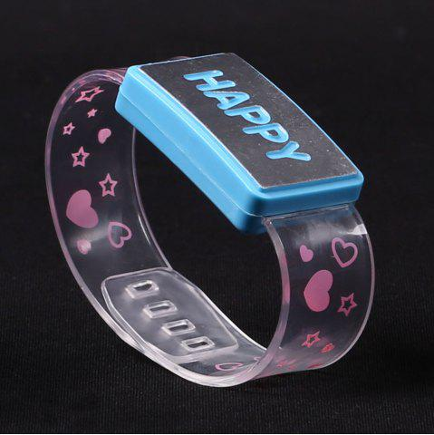 New Flash Letter Party Decorative Watch Shaped Light - HAPPY BLUE Mobile