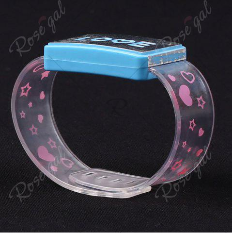 Discount Flash Letter Party Decorative Watch Shaped Light - LOVE BLUE Mobile