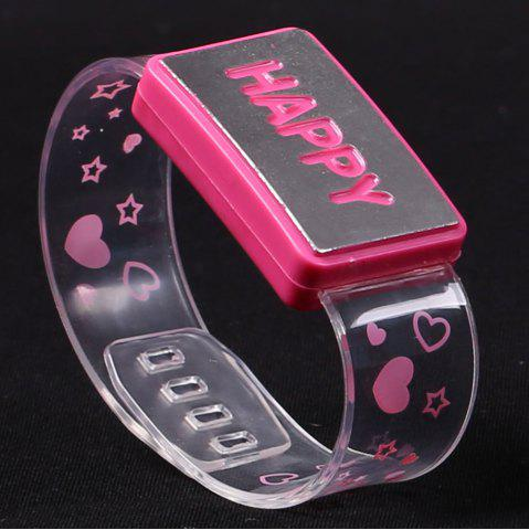 Fashion Flash Letter Party Decorative Watch Shaped Light - HAPPY PINK Mobile