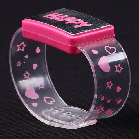Fancy Flash Letter Party Decorative Watch Shaped Light - HAPPY PINK Mobile