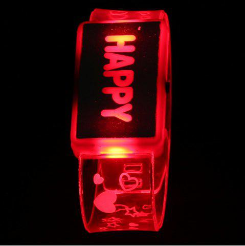 Affordable Flash Letter Party Decorative Watch Shaped Light