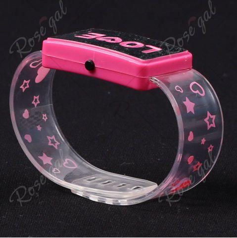 Online Flash Letter Party Decorative Watch Shaped Light - LOVE PINK Mobile