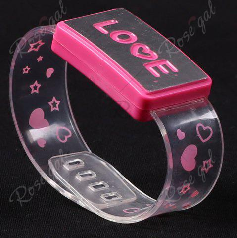 Outfit Flash Letter Party Decorative Watch Shaped Light - LOVE PINK Mobile