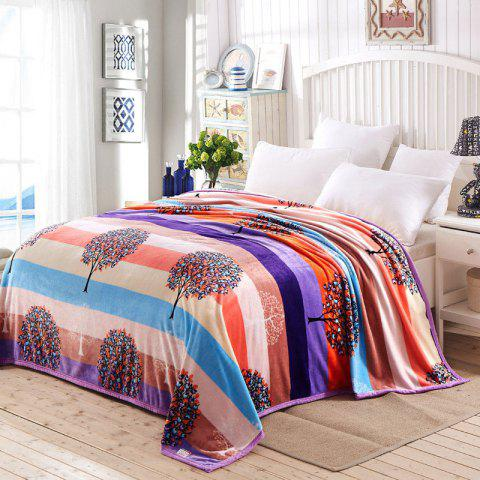 Super Soft Money Tree Pattern Nap Throw Blanket - Colorful - Queen