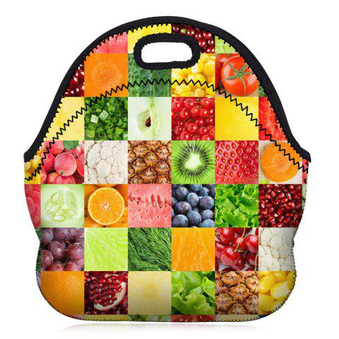 Shops Food Printed Lunch Bag