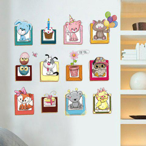 Discount Cartoon Animals Vinyl Wall Decor Sticker For Kids - 40*60CM COLORMIX Mobile