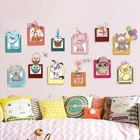 Outfit Cartoon Animals Vinyl Wall Decor Sticker For Kids - 40*60CM COLORMIX Mobile