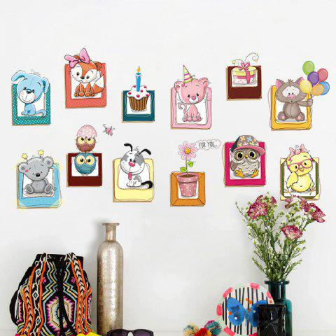 Buy Cartoon Animals Vinyl Wall Decor Sticker For Kids - 40*60CM COLORMIX Mobile