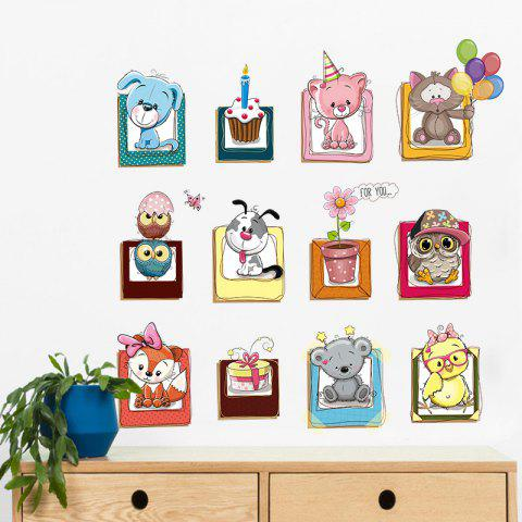 Online Cartoon Animals Vinyl Wall Decor Sticker For Kids - 40*60CM COLORMIX Mobile